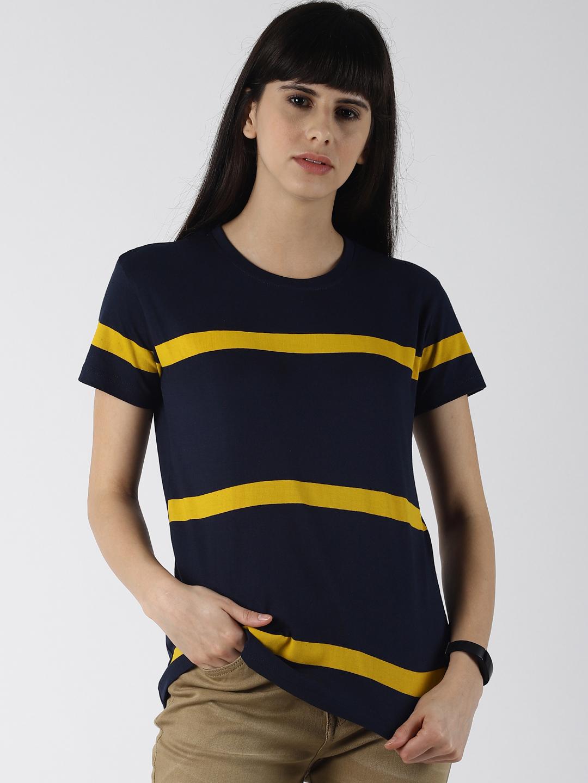 Dillinger   Dillinger Women's Striped Printed T-shirt