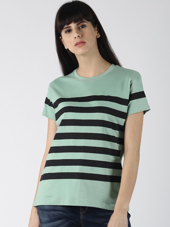 Dillinger | Dillinger Women's Striped Printed T-shirt