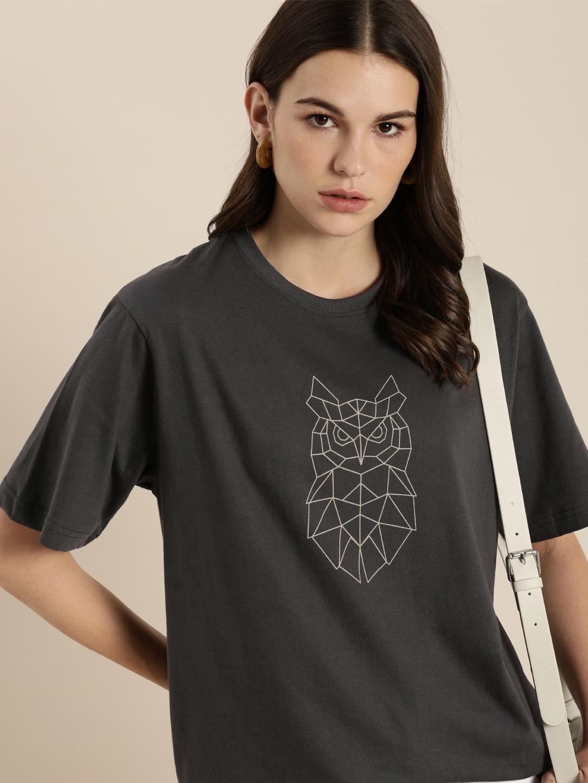 Dillinger | Dillinger Women's Typographic Grey T-Shirt