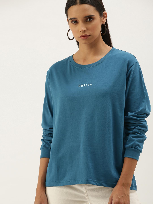 Dillinger | Dillinger Women's Blue Typographic T-Shirt