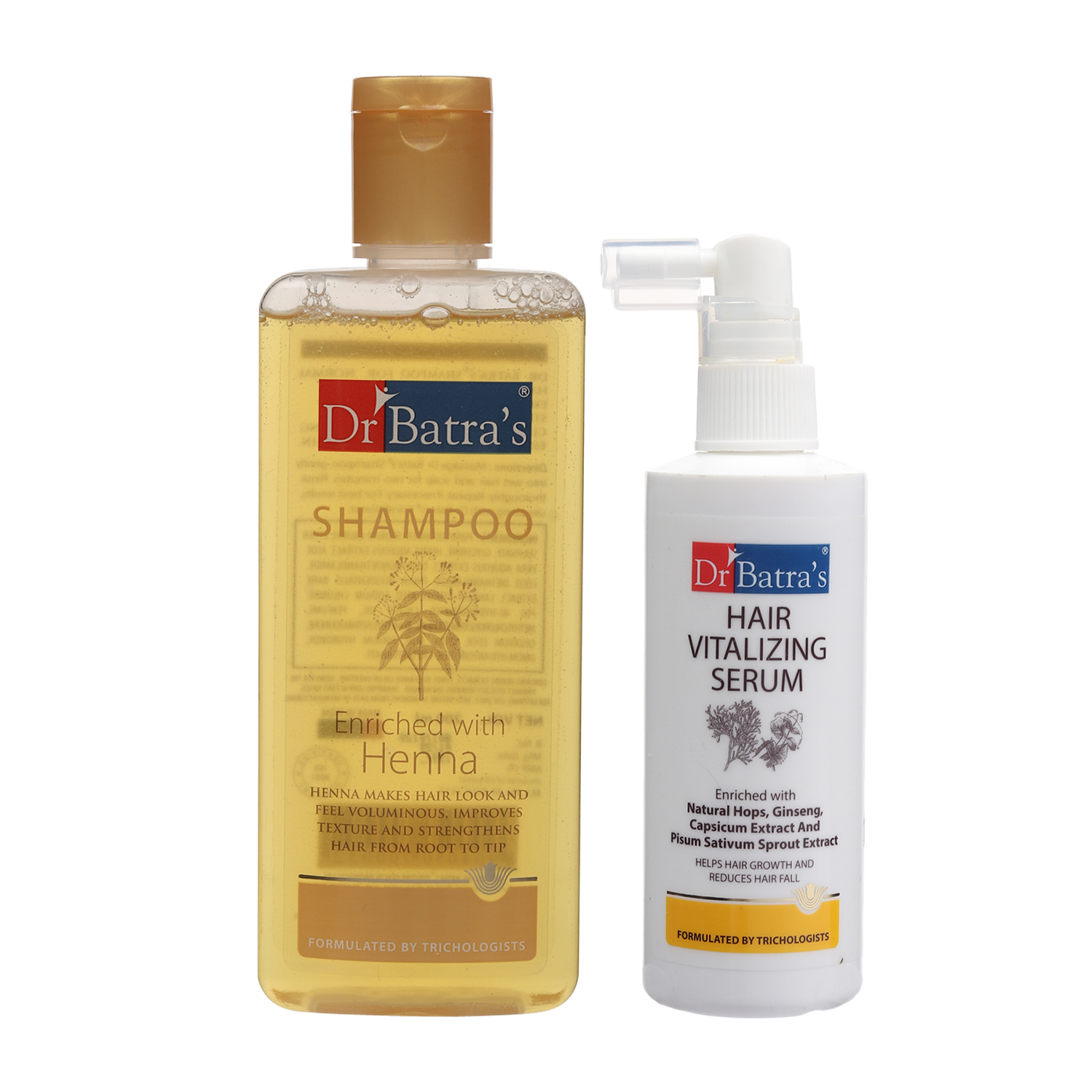 Dr Batra's | Dr Batra's Normal Shampoo 200ml and Hair Vitalizing Serum 125 ml (Pack of 2 Men and Women)