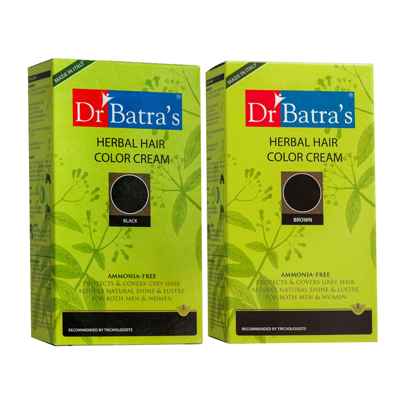 Dr Batra's | Dr Batra's Herbal Hair Color Cream and Herbal Hair Color Cream- Brown (Pack of 2 for Men and Women )