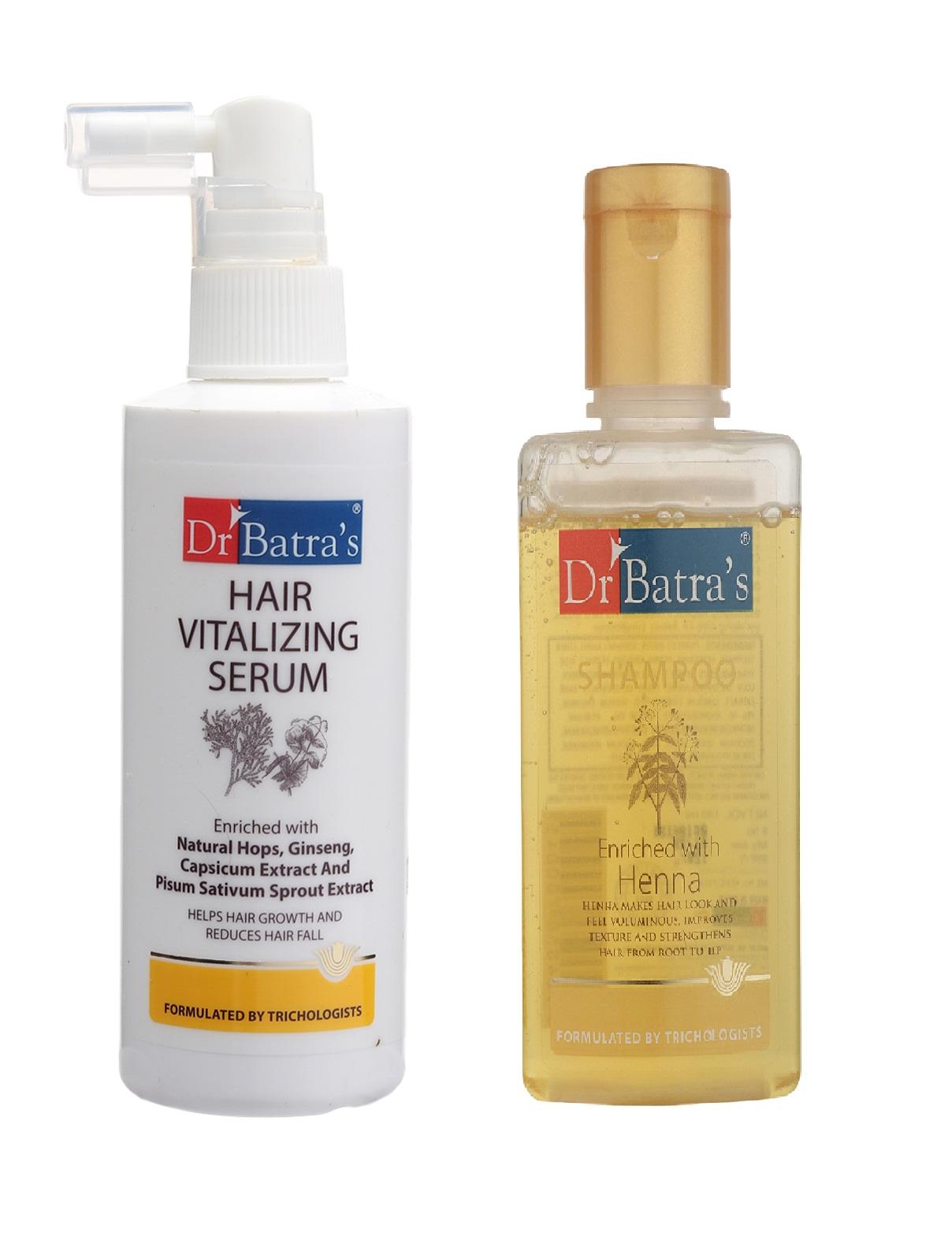 Dr Batra's | Dr Batra's Hair Vitalizing Serum and Henna Shampoo Combo (100)