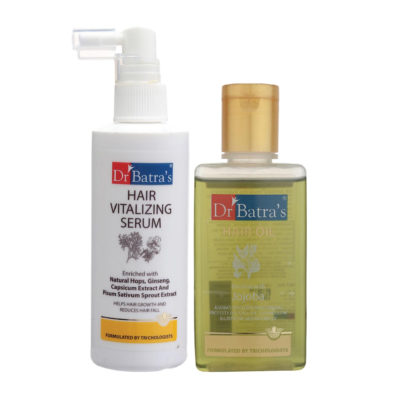 Dr Batra's | Dr Batra's Hair Vitalizing Serum 125 ml and Hair Oil - 100 ml