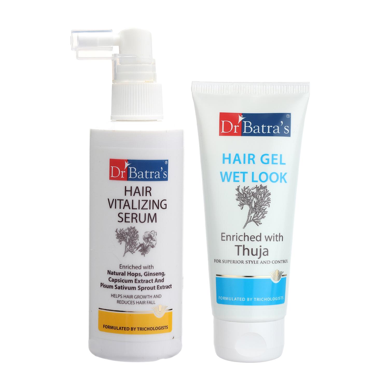 Dr Batra's | Dr Batra's Hair Vitalizing Serum 125ml and Hair Gel - 100 gm (Pack of 2 Men and Women)