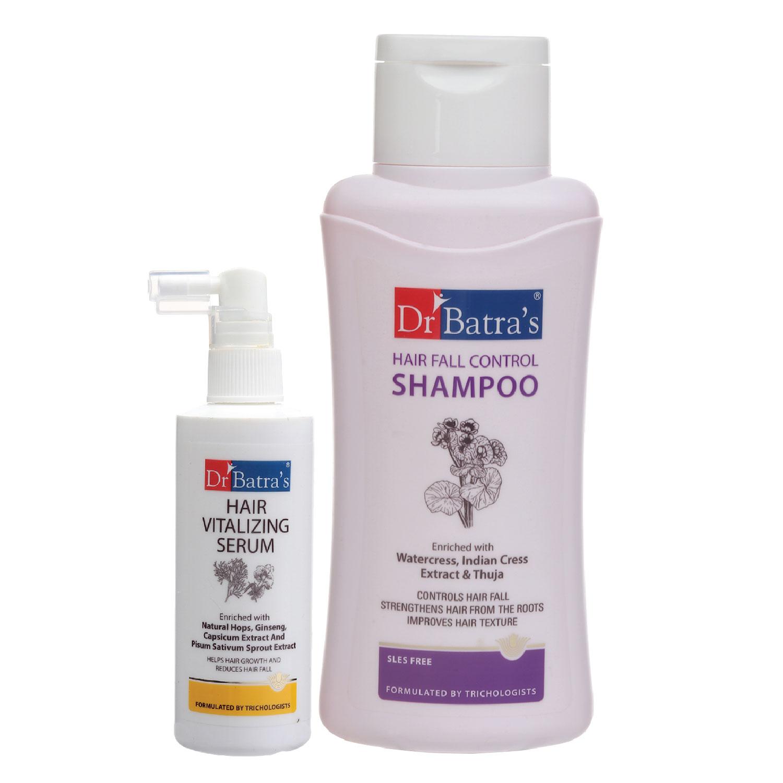 Dr Batra's | Dr Batra's Hair Vitalizing Serum 125 ml and Hair Fall Control Shampoo - 500 ml