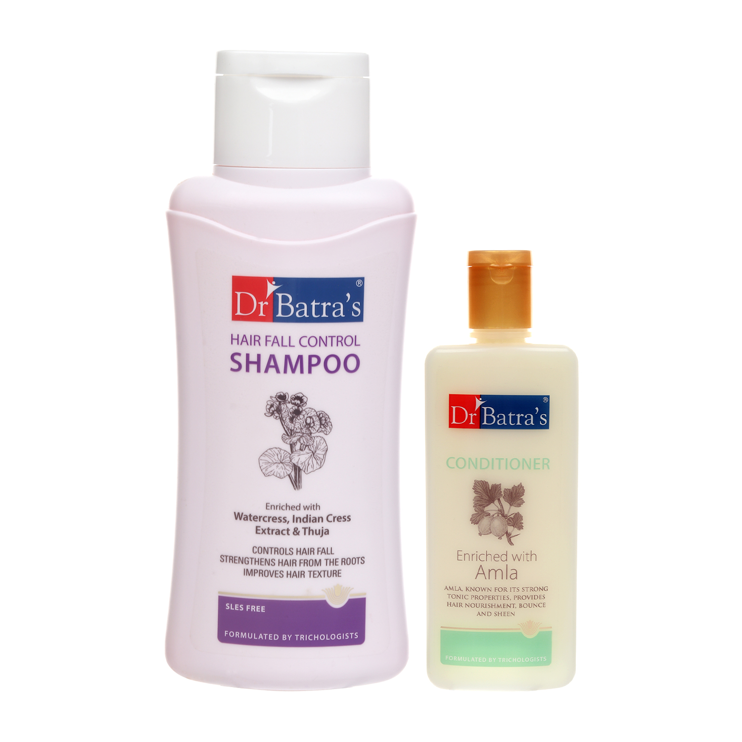 Dr Batra's | Dr Batra's Hair Fall Control Shampoo 500ml and Conditioner 200ml (Pack of 2 Men and Women)