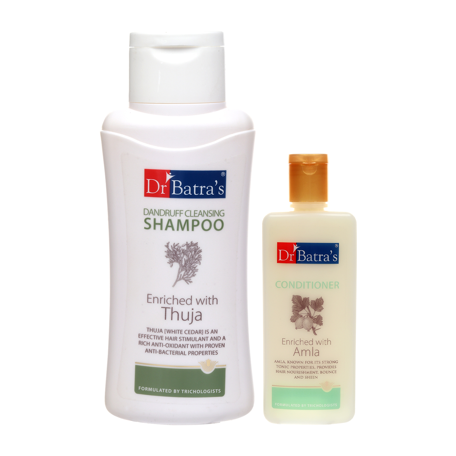 Dr Batra's | Dr Batra's Dandruff cleansing Shampoo 500 ml and Conditioner 200 ml (Pack of 2 Men and Women)