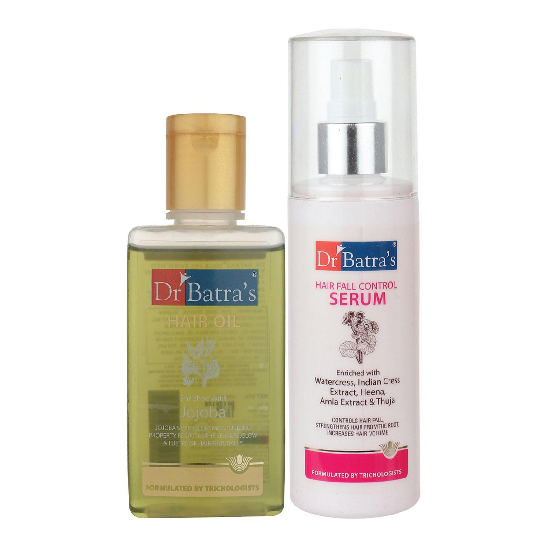 Dr Batra's | Dr Batra's Hair Fall Control Serum-125 ml and Hair Oil - 100 ml