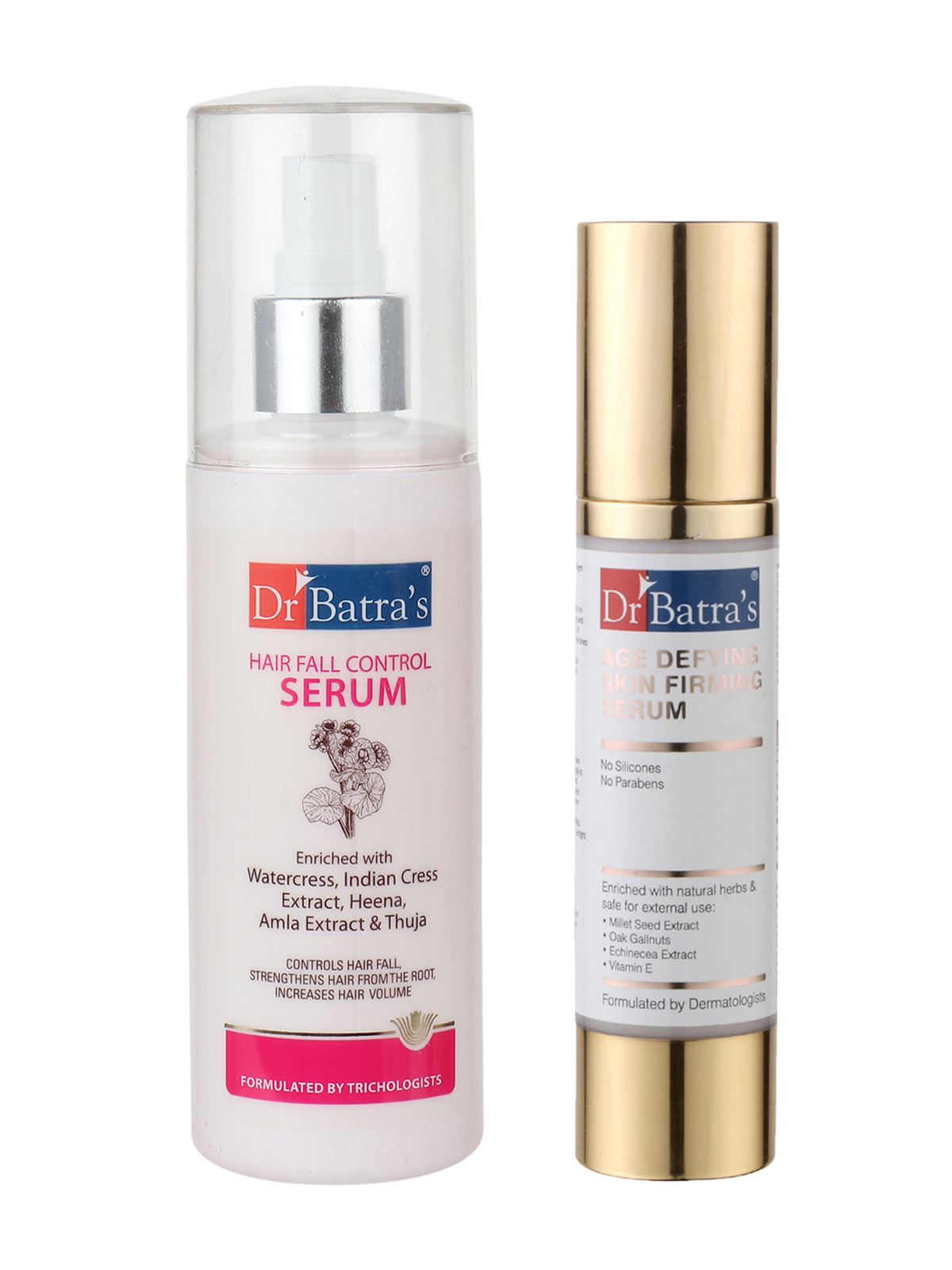 Dr Batra's | Dr Batra's Hair Fall Control Serum-125mland Age defying Skin firming Serum - 50 g (Pack of 2 for Men and Women)