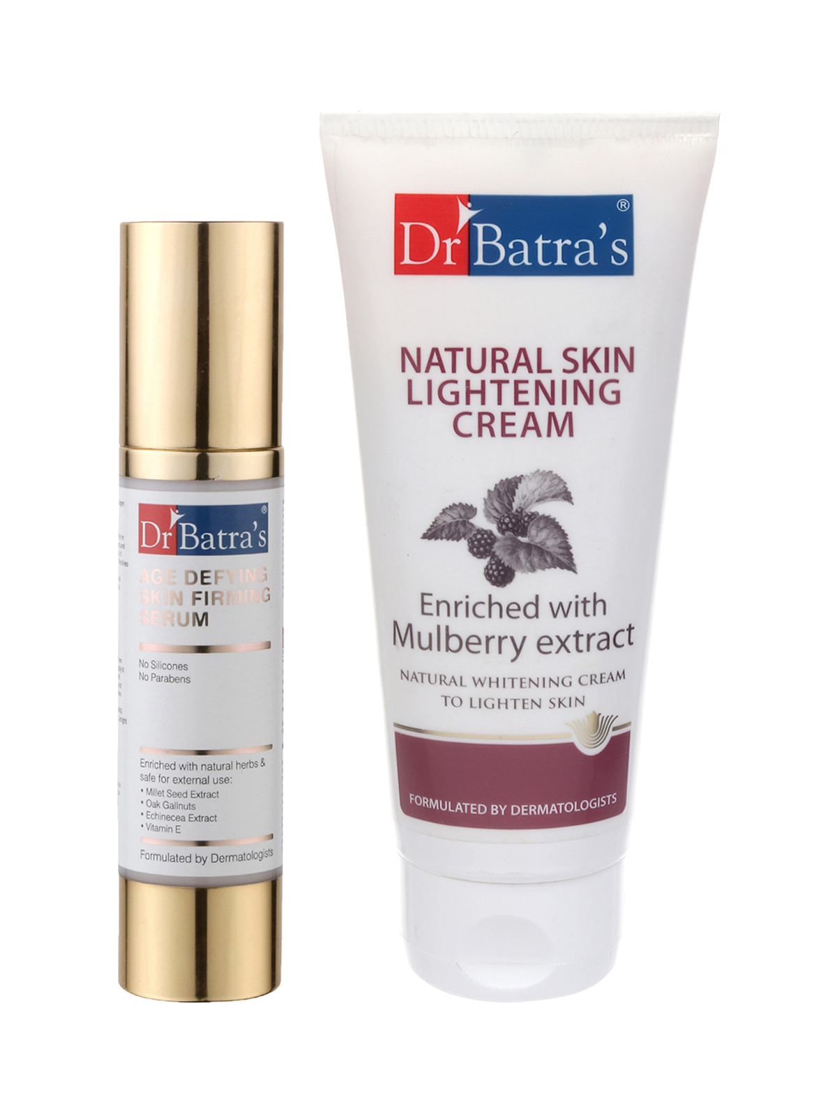 Dr Batra's | Dr Batra's Age defying Skin firming Serum - 50 g and Natural Skin Lightening Cream - 100 gm (Pack of 2 For Men and Women)