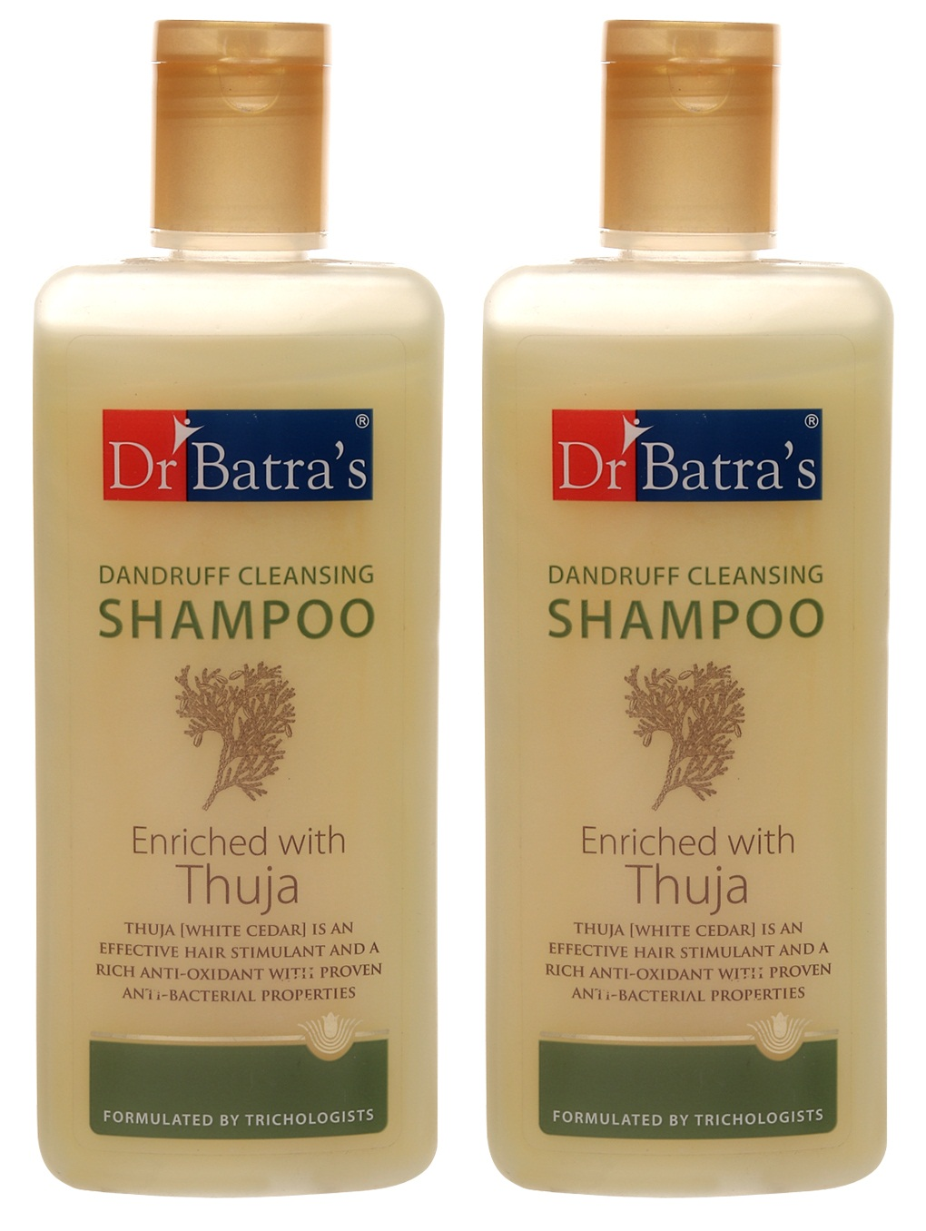 Dr Batra's | Dr Batra's Dandruff Cleansing Shampoo Enriched With Thuja - 200 ml (Pack of 2)