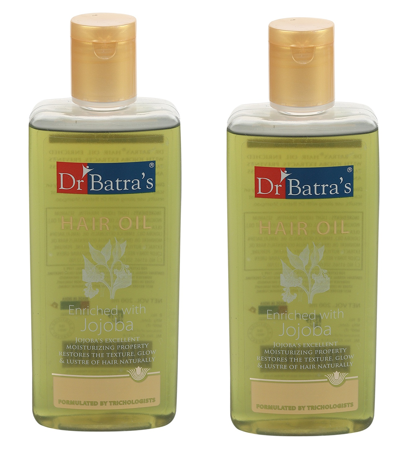 Dr Batra's | Dr Batra's Hair Oil Enriched With Jojoba - 200 ml (Pack of 2)