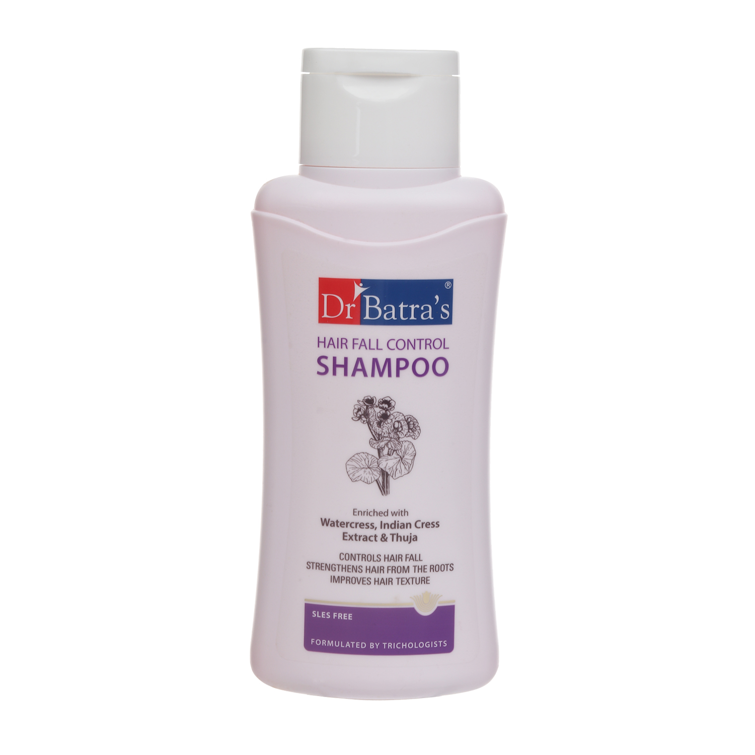 Dr Batra's | Dr Batra's Hair Fall Control Shampoo Enriched With Watercress, Indian Cress extract and Thuja - 500 ml