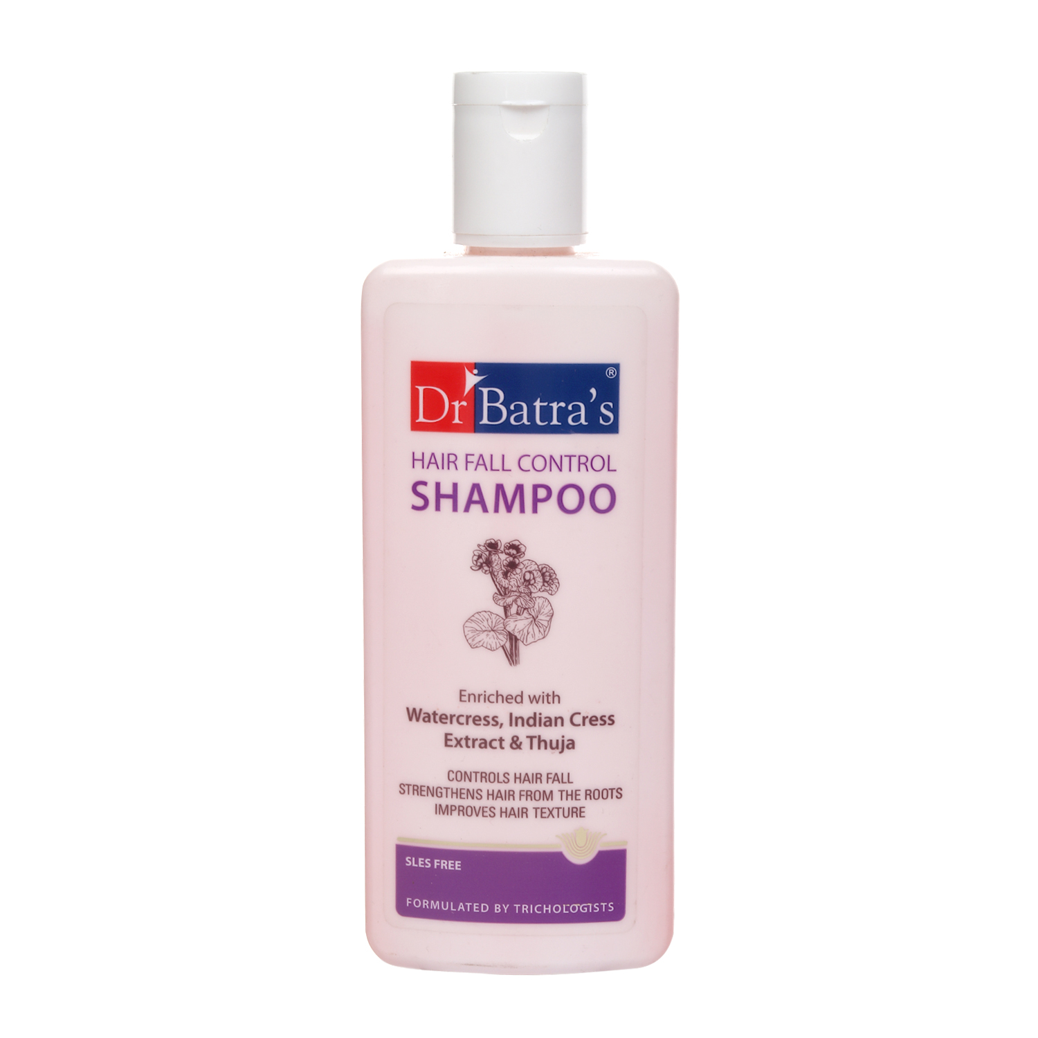 Dr Batra's | Dr Batra's Hair Fall Control Shampoo Enriched With Watercress, Indian Cress extract and Thuja - 200 ml