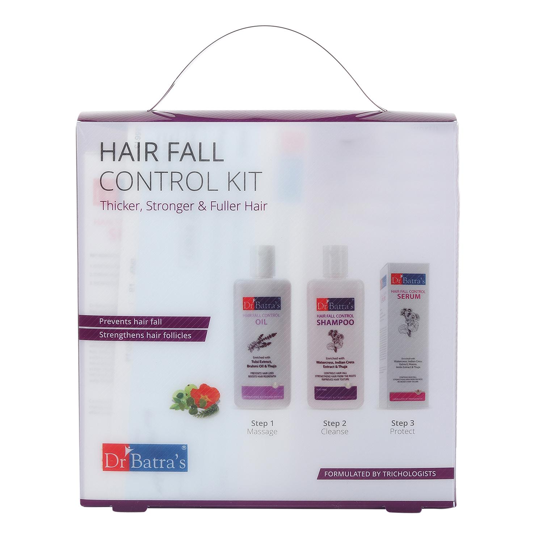 Dr Batra's | Dr Batra's Hair Fall Control Kit Thicker, Stronger & Fuller Hair - 525 ml
