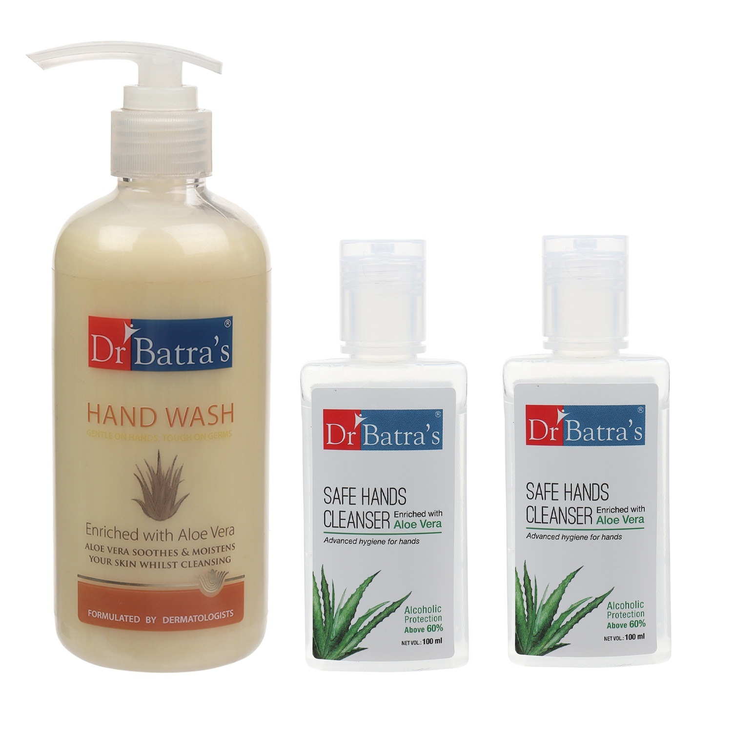 Dr Batra's | Dr Batra's Hand Wash 300 ml and Safe Hand Cleanser 200 ml (Pack of 3)