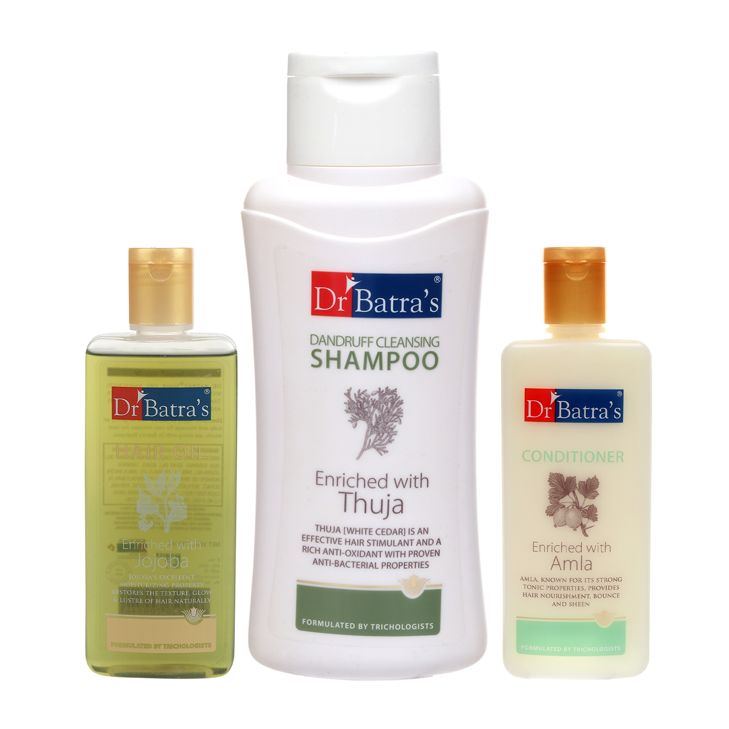 Dr Batra's | Dr Batra's Dandruff cleansing Shampoo 500ml, Conditioner 200ml and Hair oil 200 ml (Pack of 3 for Men and Women)
