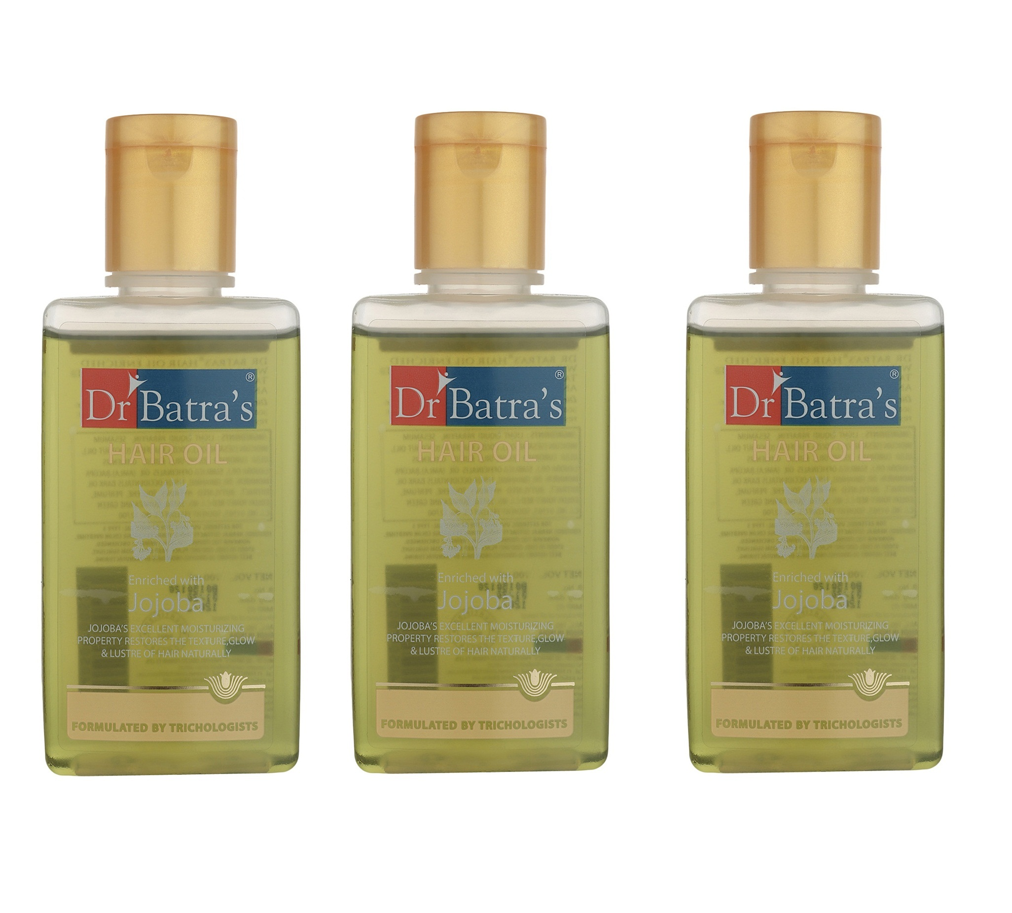 Dr Batra's | Dr Batra's Hair Oil Enriched With Jojoba - 100 ml (Pack of 3)