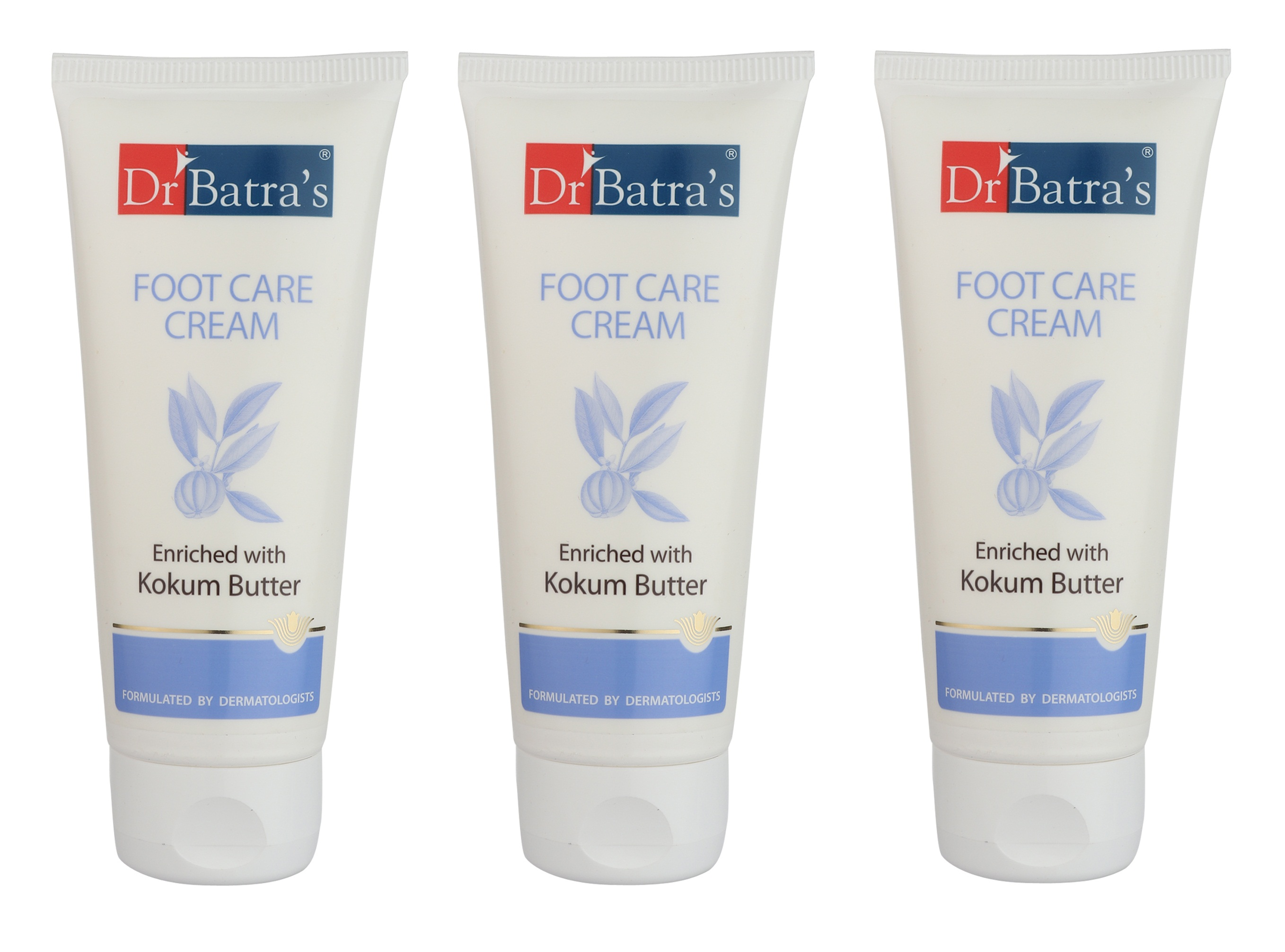 Dr Batra's | Dr Batra's Foot Care Cream Enriched With Kokum Butter - 100 gm (Pack of 3)