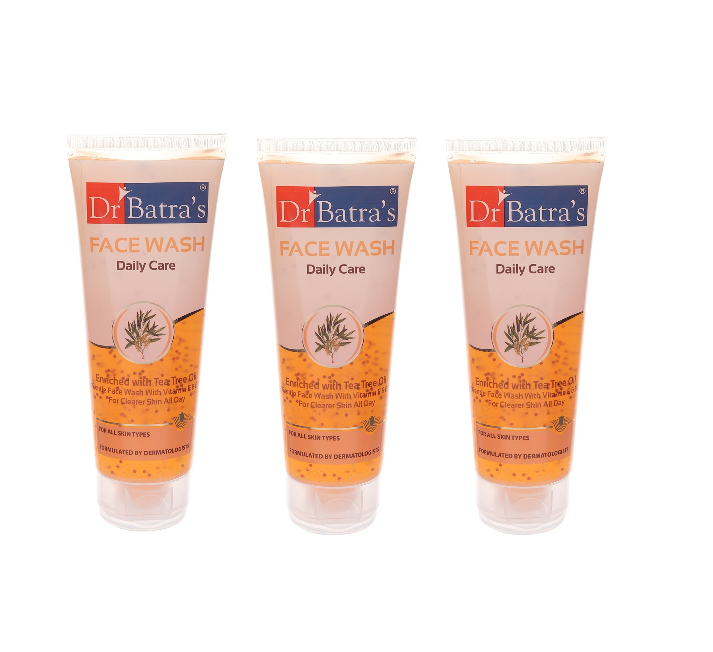 Dr Batra's | Dr Batra's Face Wash Daily Care Enriched With Tea Tree Oil - 100 gm (Pack of 3)