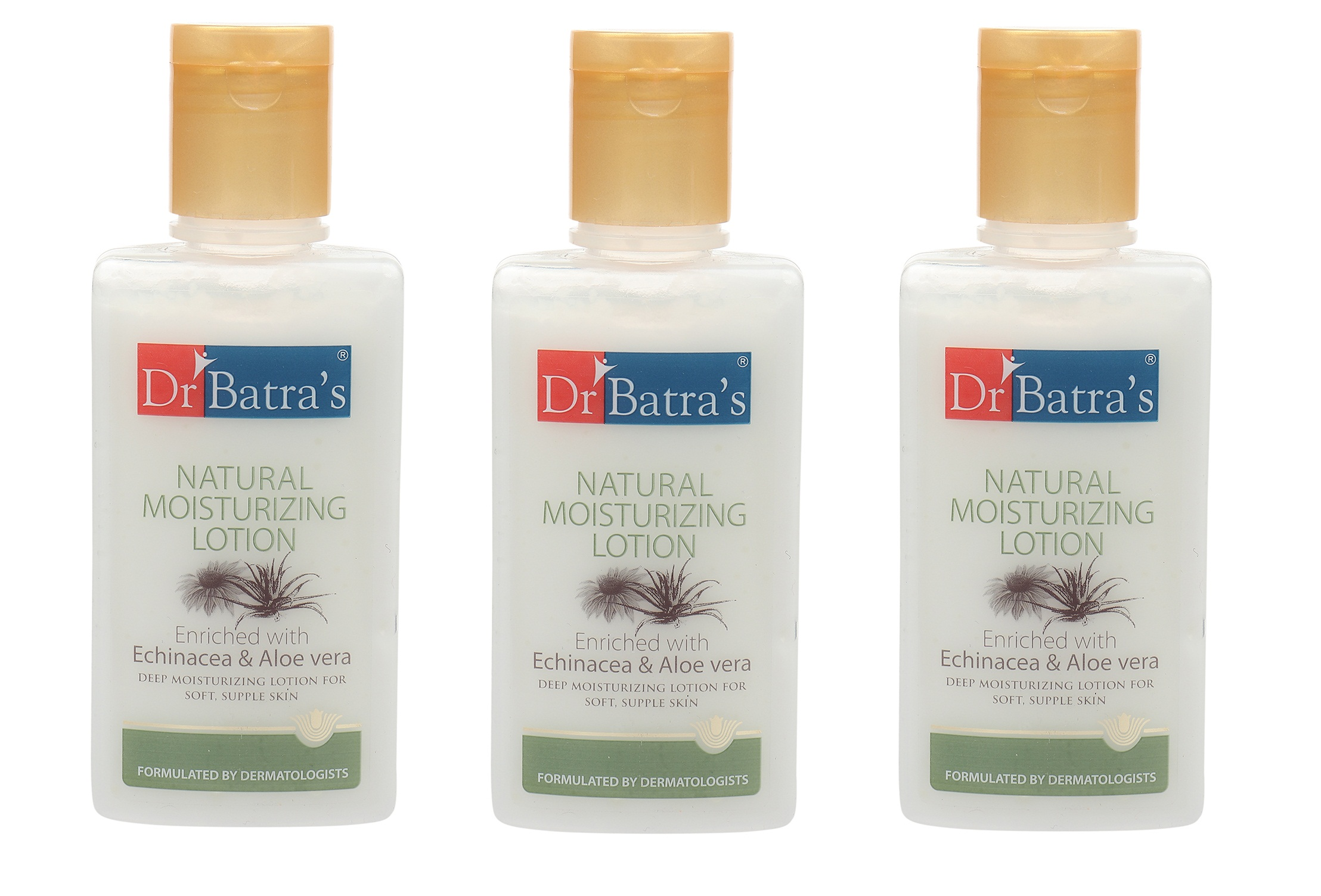 Dr Batra's | Dr Batra's Natural Moisturizing Lotion Enriched With Echinacea Aloe Vera - 100 ml (Pack of 3)