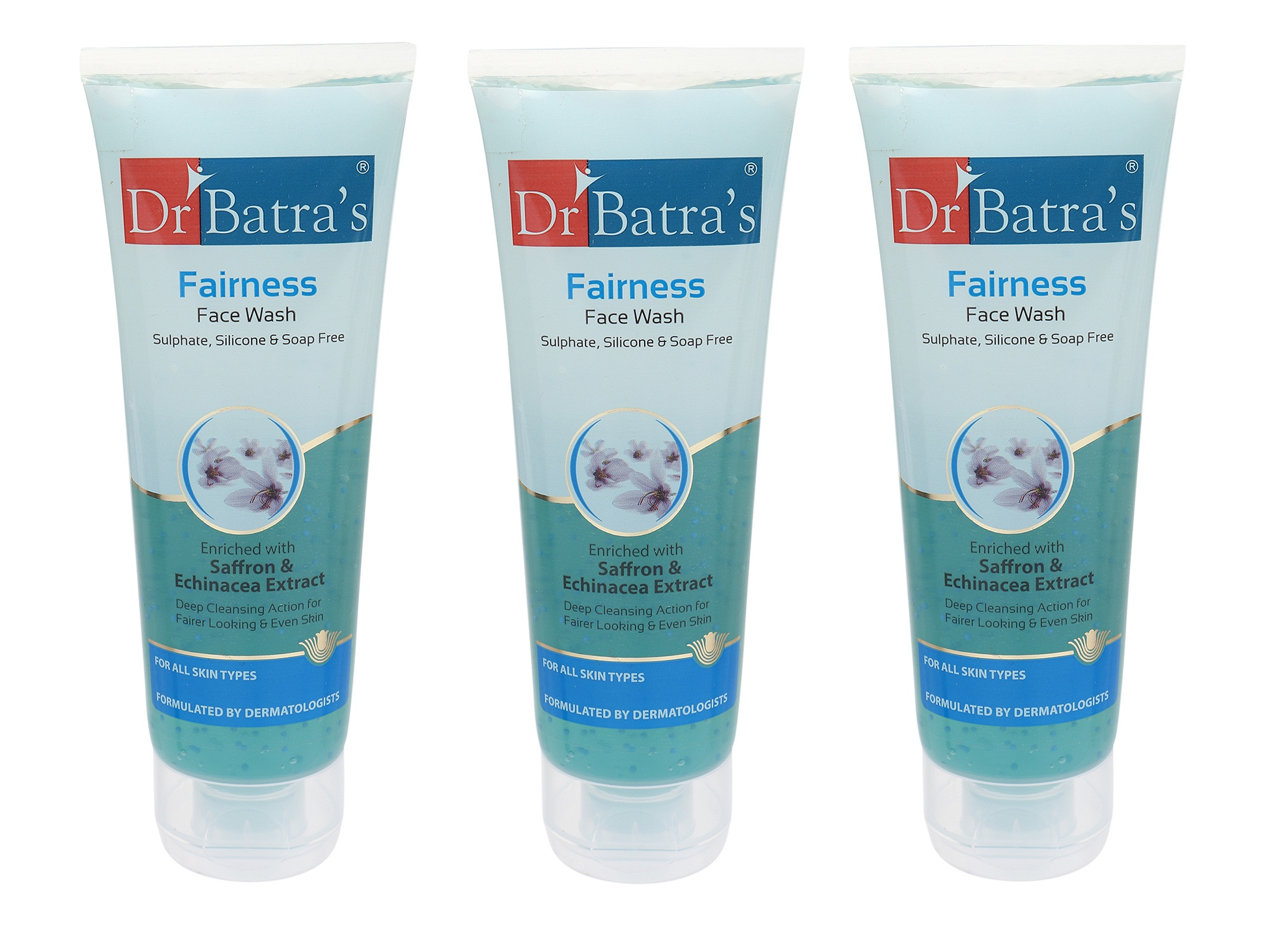 Dr Batra's | Dr Batra's Fairness Face Wash Enriched With Saffron & Echinicea Extract - 100 gm (Pack of 3)