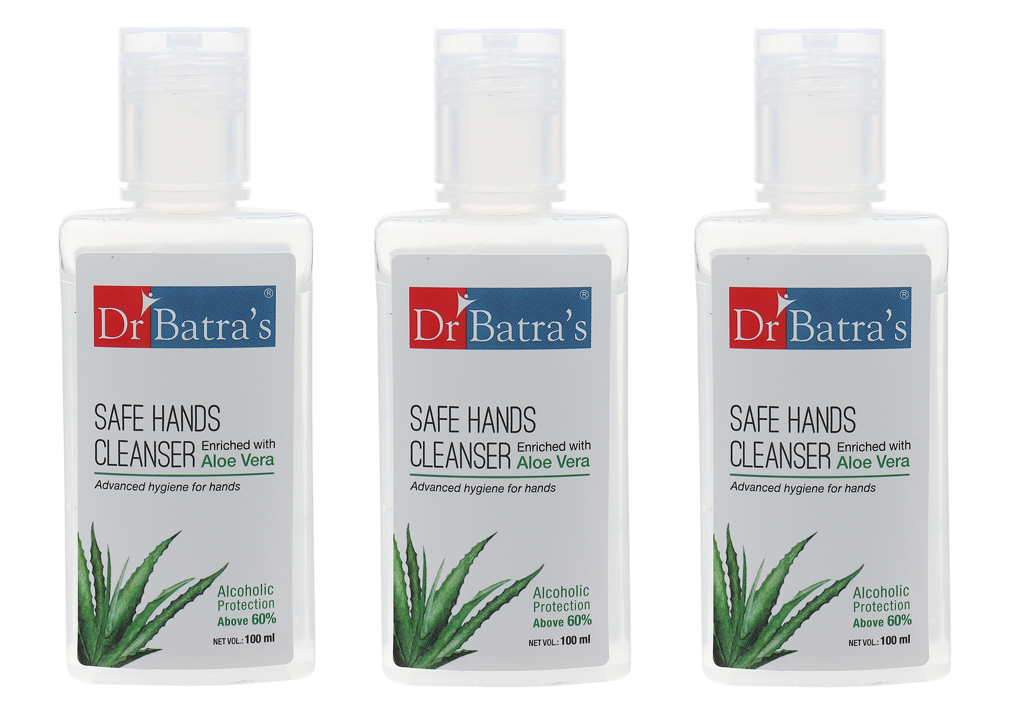 Dr Batra's | Dr Batra's Safe Hands Cleanser Enriched With Aloe vera - 100 ml (Pack of 3)