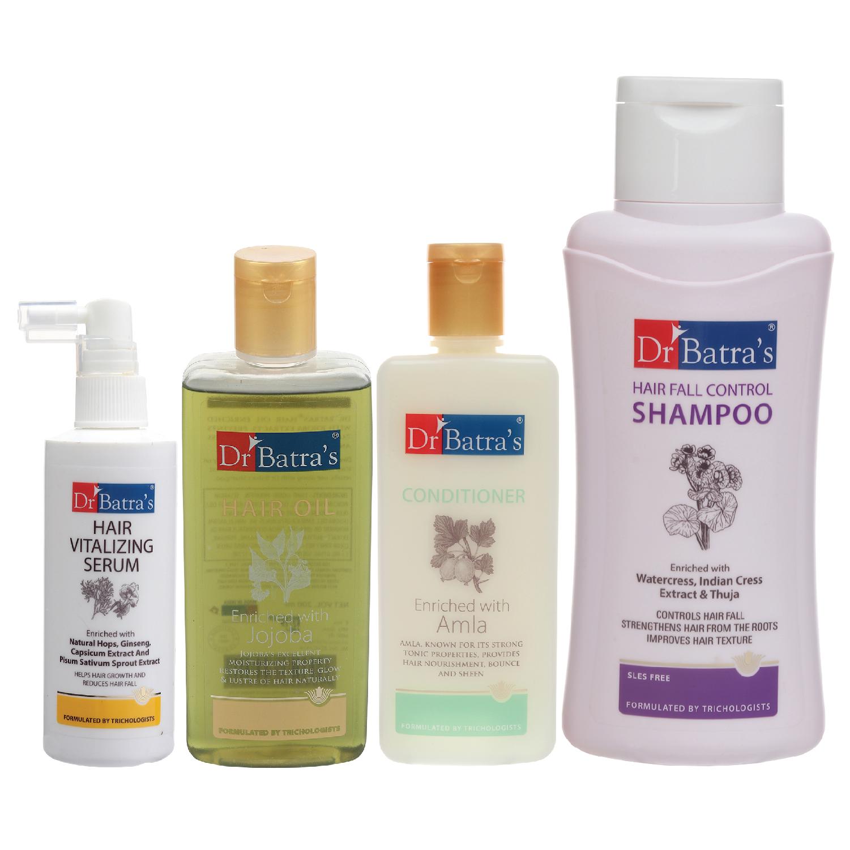 Dr Batra's   Dr Batra's Hair Vitalizing Serum 125 ml, Hair Fall Control Shampoo - 500 ml, Hair Oil - 200 ml and Conditioner 200 ml