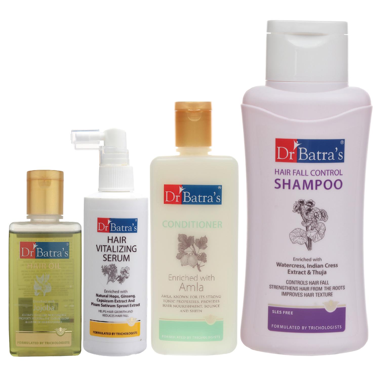 Dr Batra's | Dr Batra's Hair Vitalizing Serum 125 ml, Hair Fall Control Shampoo - 500 ml, Hair Oil - 100 ml and Conditioner 200 ml