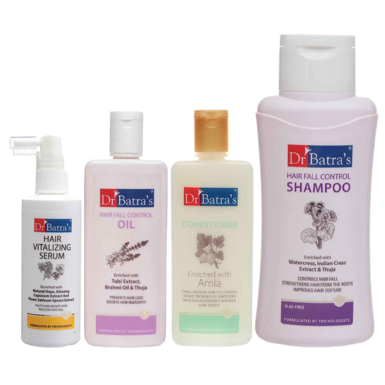 Dr Batra's | Dr Batra's Hair Vitalizing Serum 125 ml, Hair Fall Control Shampoo - 500 ml, Hair Fall Control Oil- 200 ml and Conditioner 200 ml