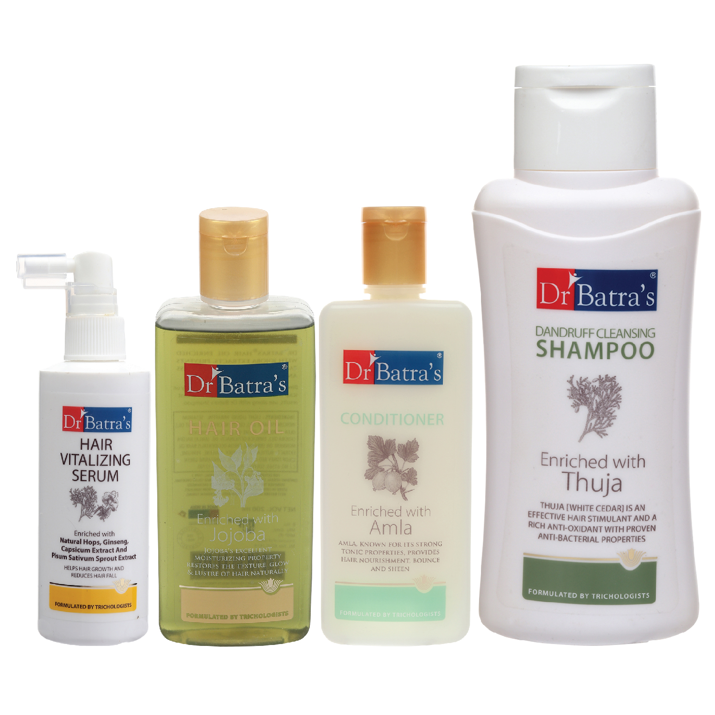 Dr Batra's | Dr Batra's Hair Vitalizing Serum 125 ml, Dandruff Cleansing Shampoo - 500 ml, Hair Oil - 200 ml and Conditioner 200 ml