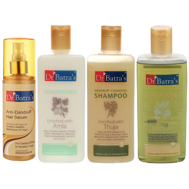 Dr Batra's | Dr Batra's Anti Dandruff Hair Serum, Conditioner - 200 ml, Hair Oil - 200 ml and Dandruff Cleansing Shampoo - 200 ml