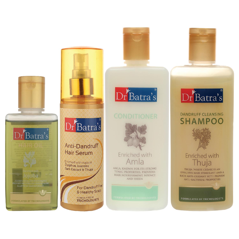 Dr Batra's | Dr Batra's Anti Dandruff Hair Serum, Conditioner - 200 ml, Hair Oil - 100 ml and Dandruff Cleansing Shampoo - 200 ml