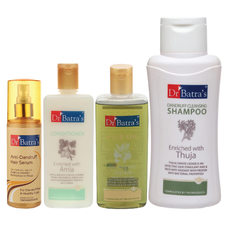 Dr Batra's   Dr Batra's Anti Dandruff Hair Serum, Conditioner - 200 ml, Hair Oil - 200 ml and Dandruff Cleansing Shampoo - 500 ml