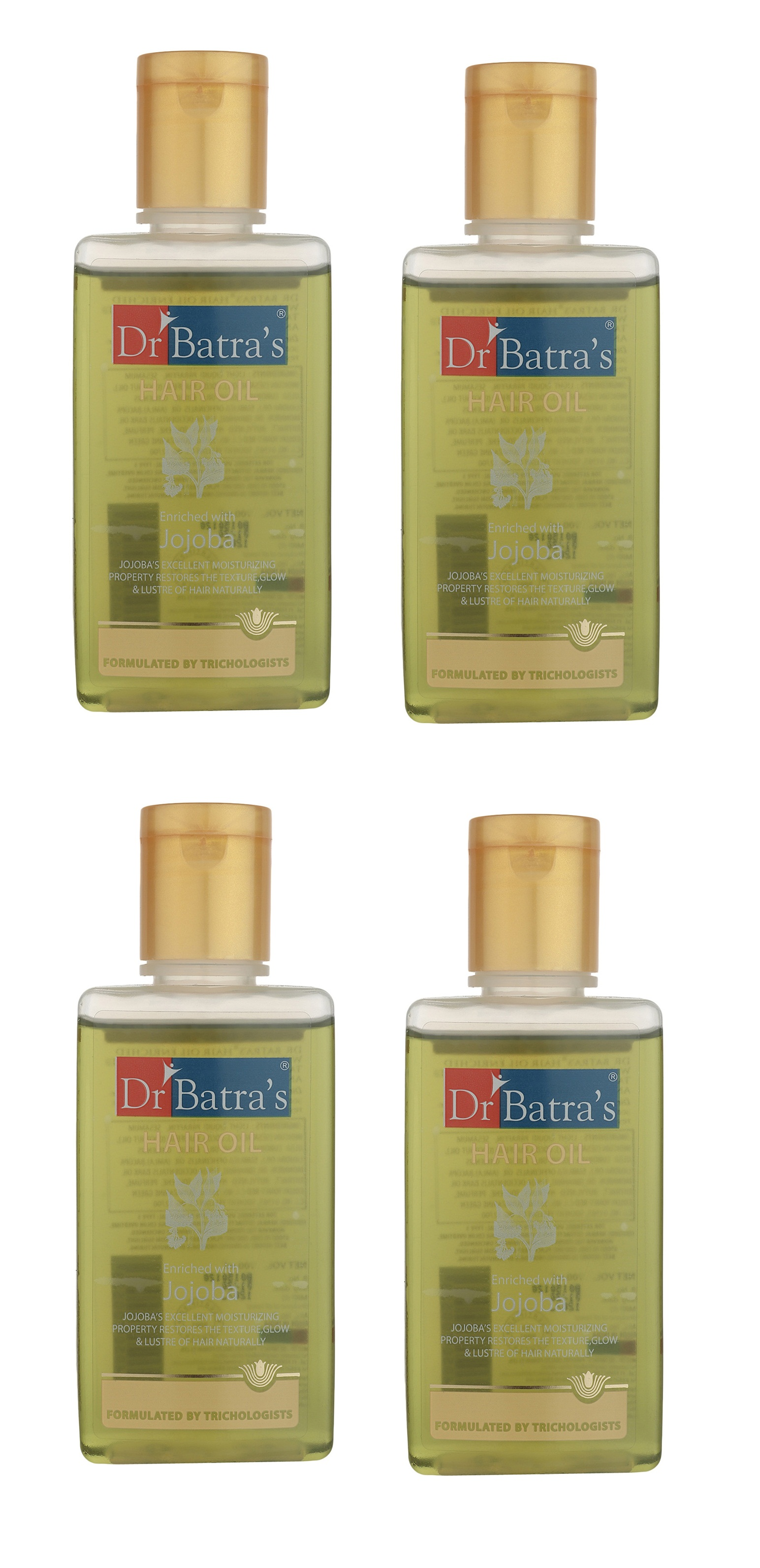 Dr Batra's | Dr Batra's Hair Oil Enriched With Jojoba - 100 ml (Pack of 4)