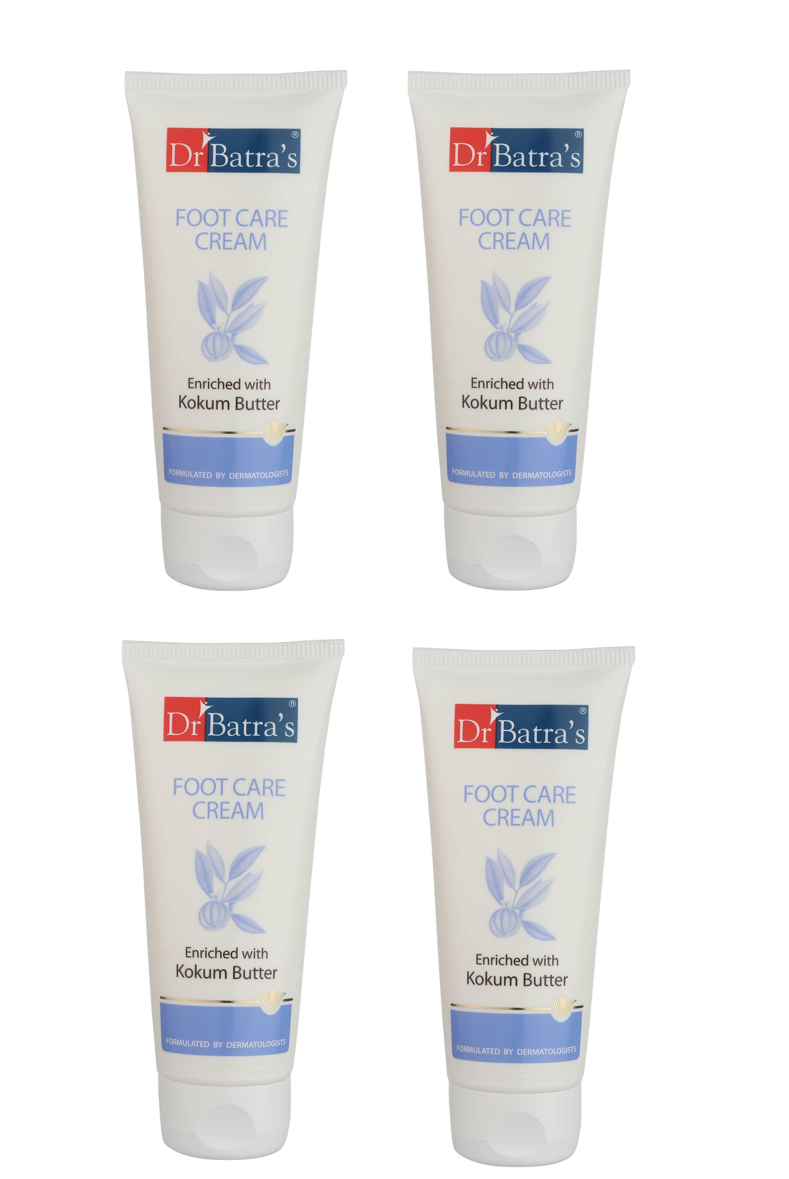 Dr Batra's | Dr Batra's Foot Care Cream Enriched With Kokum Butter - 100 gm (Pack of 4)