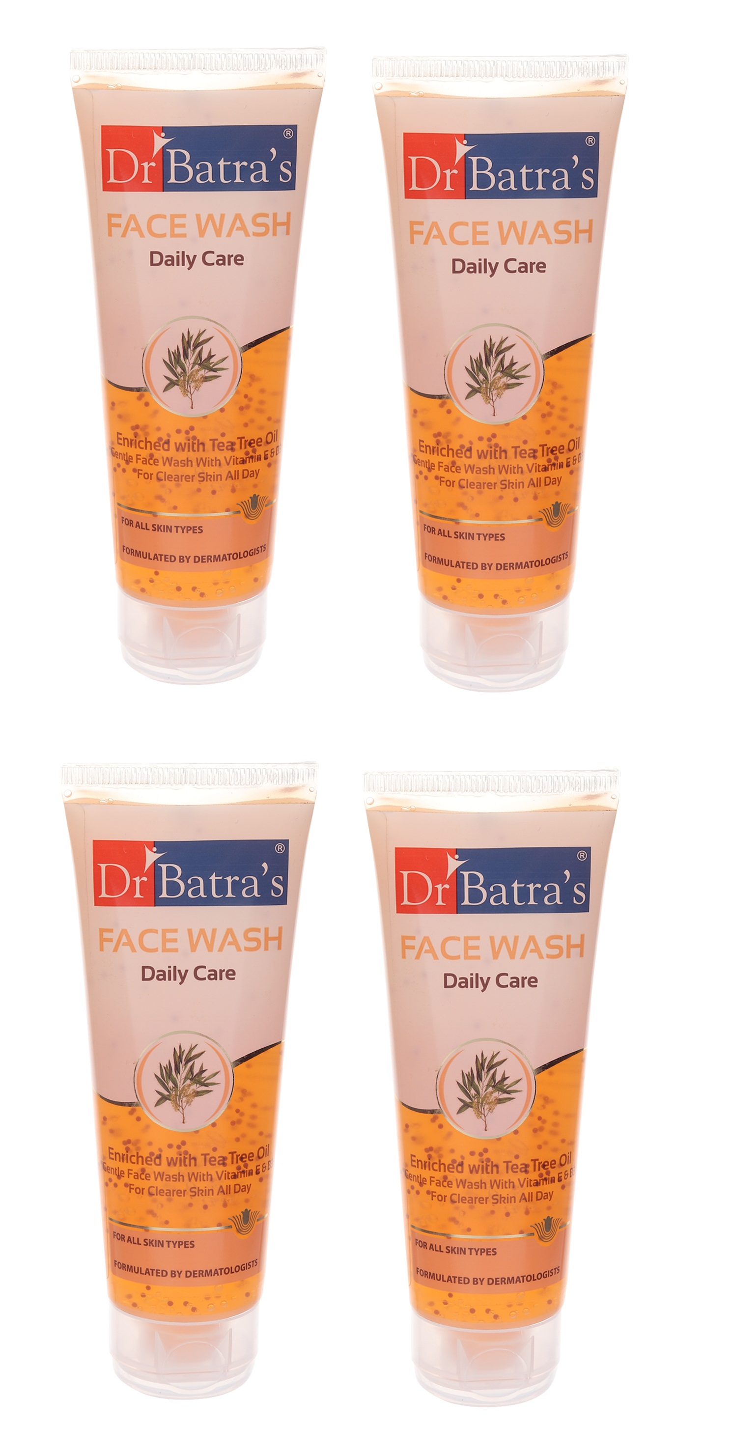 Dr Batra's | Dr Batra's Face Wash Daily Care Enriched With Tea Tree Oil - 100 gm (Pack of 4)