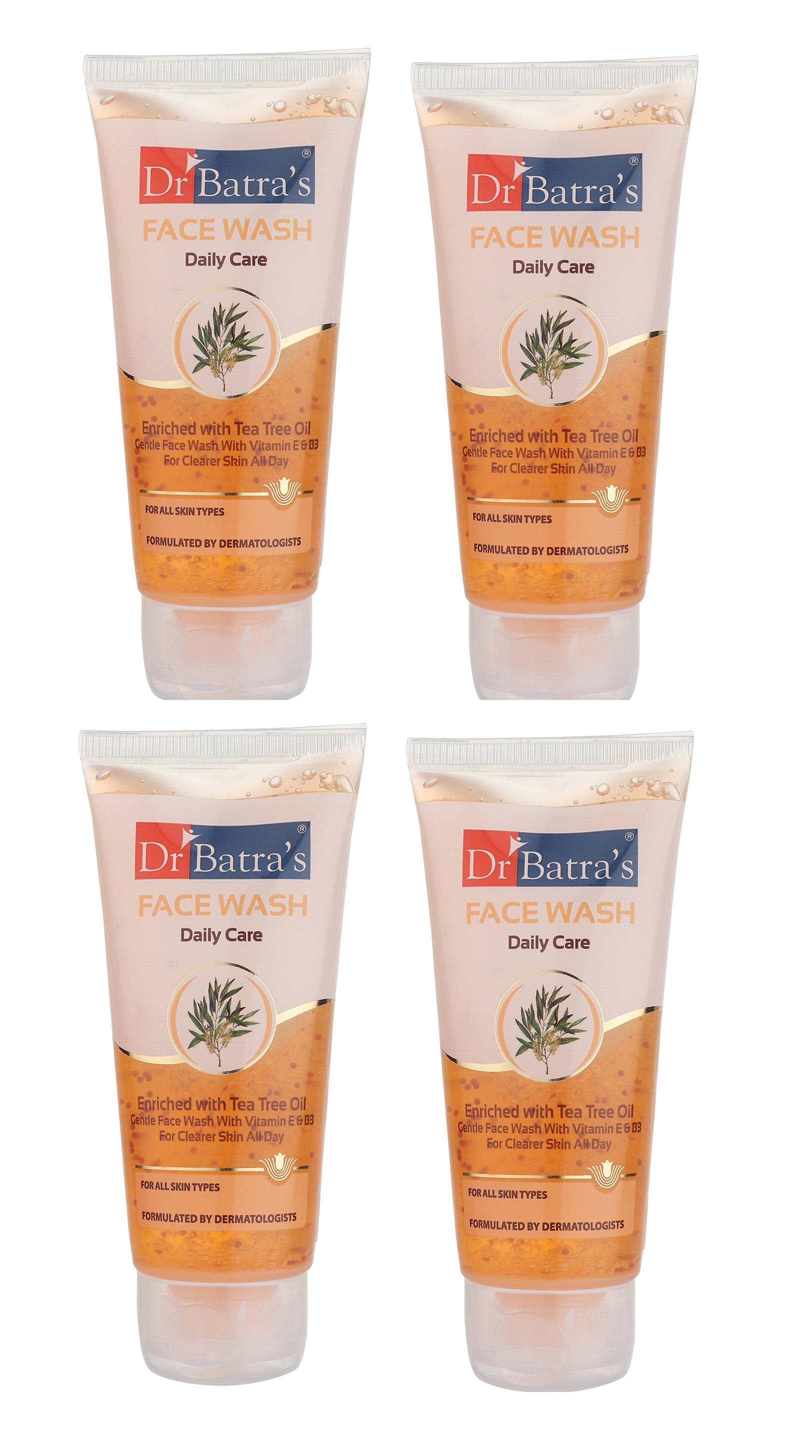 Dr Batra's | Dr Batra's Face Wash Daily Care Enriched With Tea Tree Oil - 50 gm (Pack of 4)