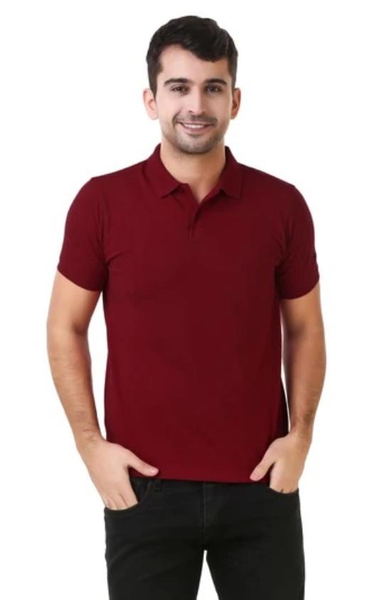 Lotto   Lotto Men's Polo Basic PC Maroon T-Shirt
