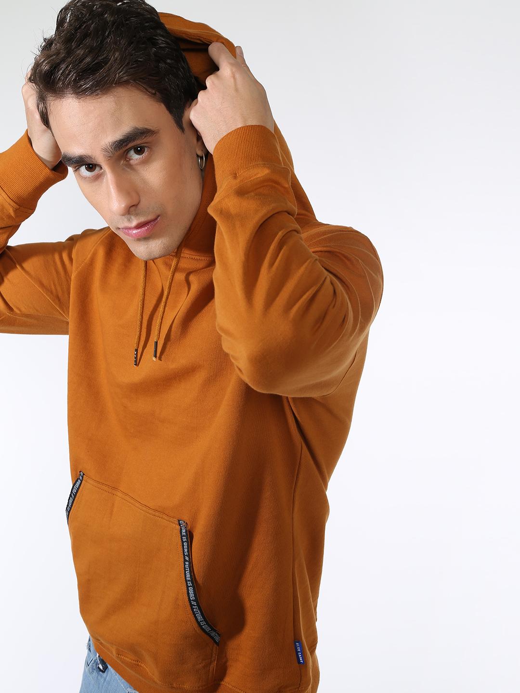 Blue Saint | Blue Saint Men's Brown Regular Fit Sweatshirts