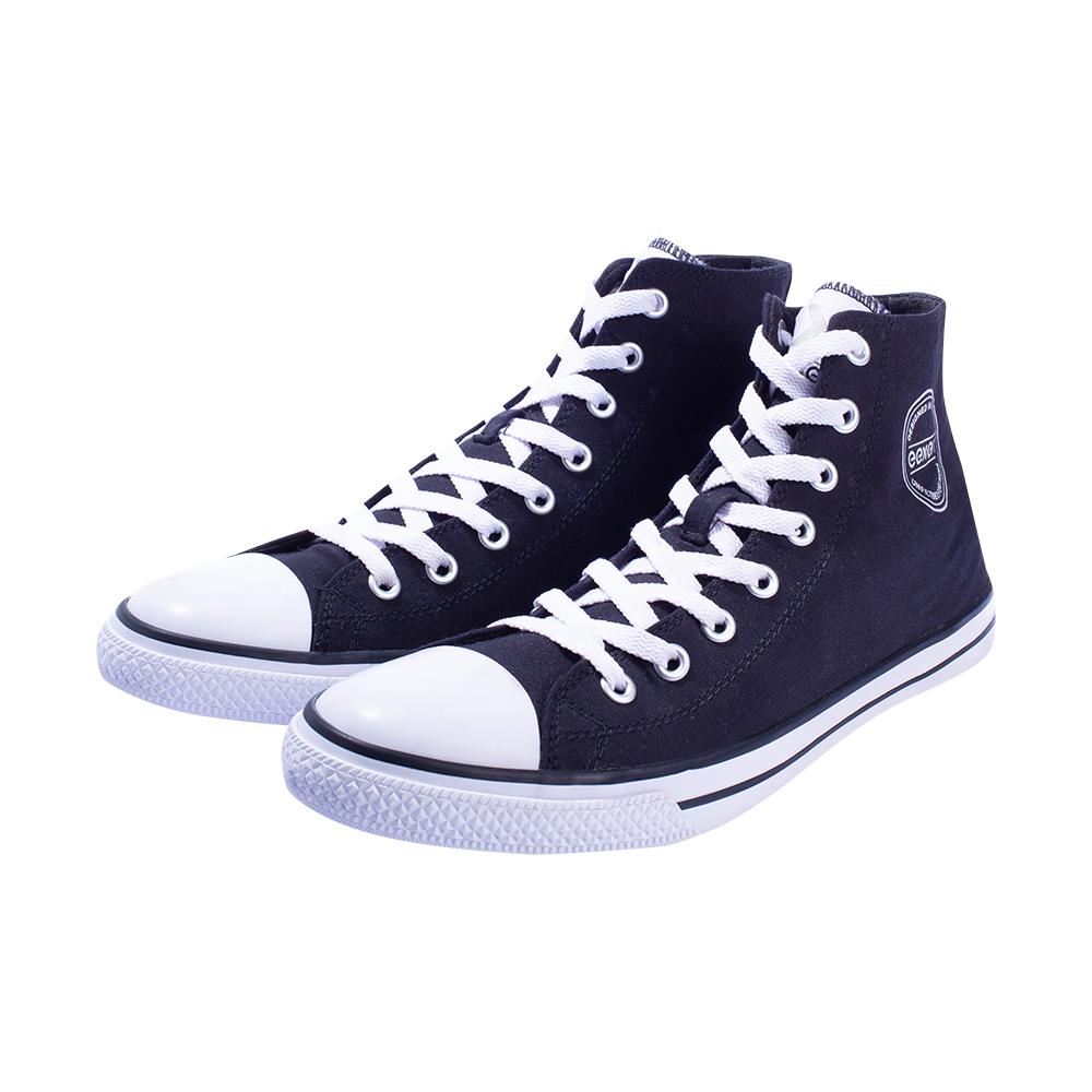 EEKEN | EEKEN Black Canvas Lightweight Casual Shoes for Men (by Paragon)
