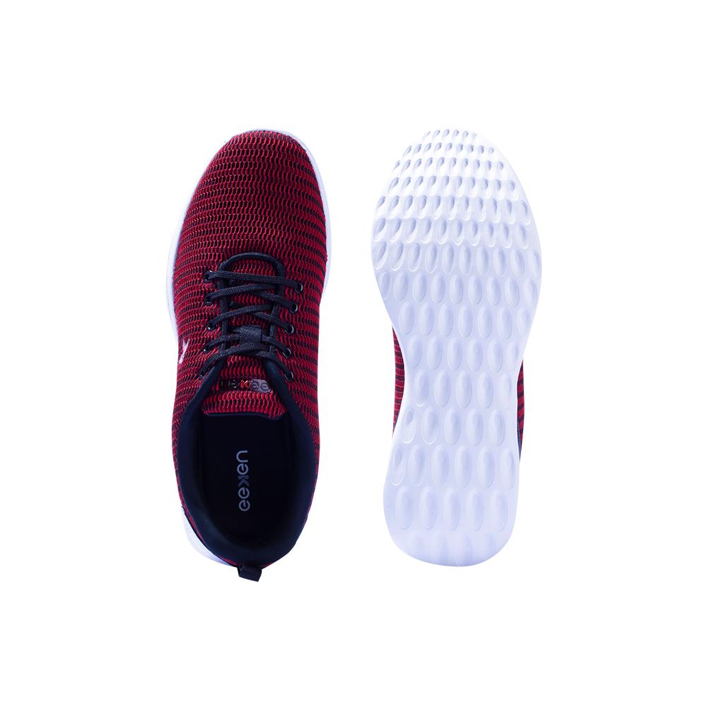 EEKEN | EEKEN Red / Black Athleisure Lightweight Casual shoes for Men by Paragon