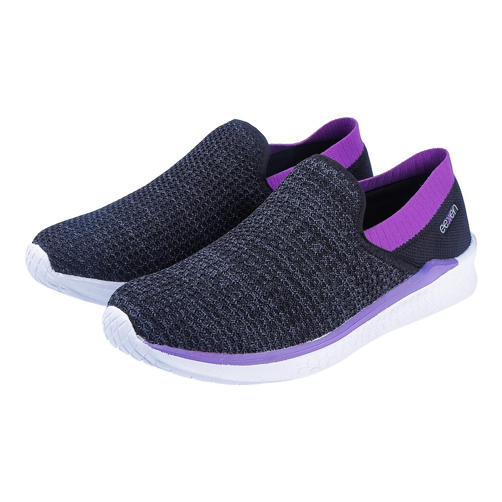 EEKEN | EEKEN Black/Lavender Athleisure Lightweight Casual Shoes for Women (by Paragon)