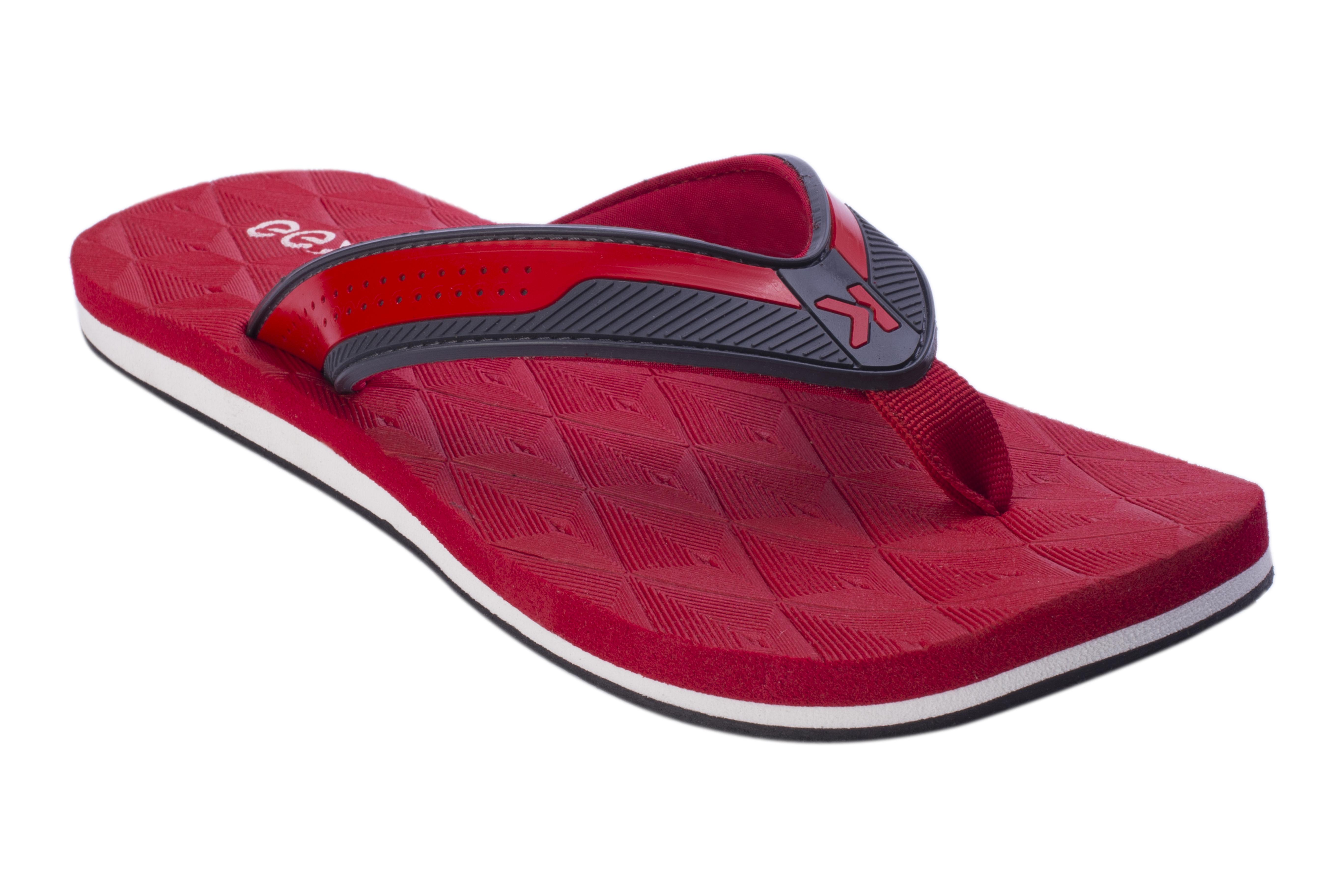 EEKEN | EEKEN Red Lightweight Flip-Flop for Men by Paragon