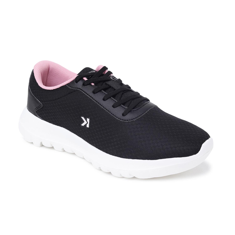 EEKEN | EEKEN Black/Pink Athleisure Lightweight Casual Shoes for Women (by Paragon)