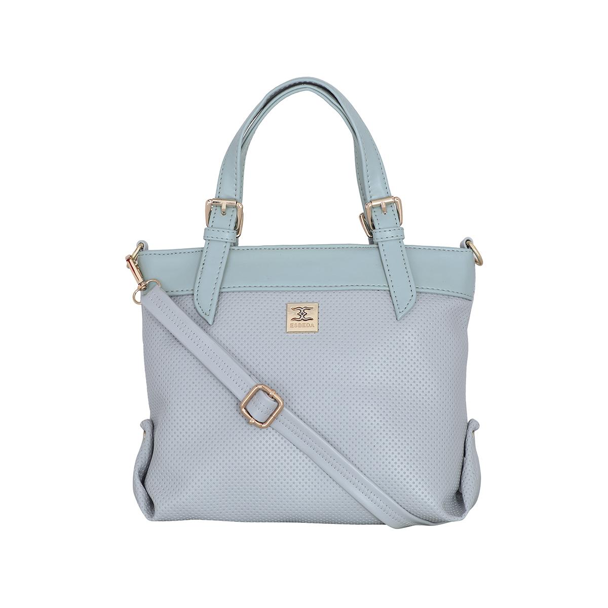 ESBEDA | ESBEDA Grey Colour Dotted Texture Handbag For Women