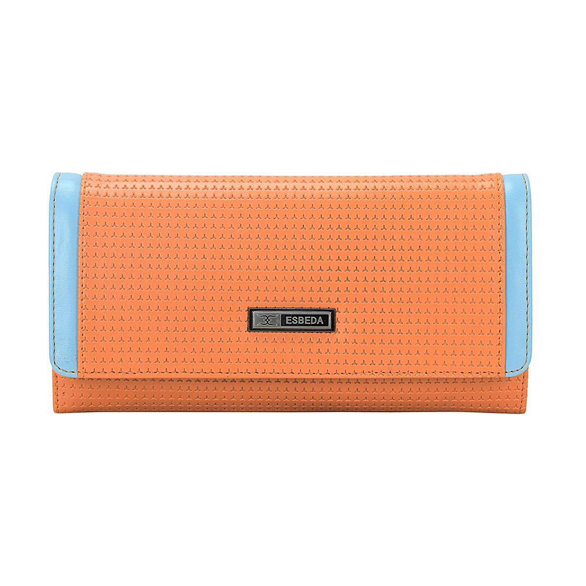 ESBEDA   ESBEDA Orange Color Emboss Texture Wallet For Women
