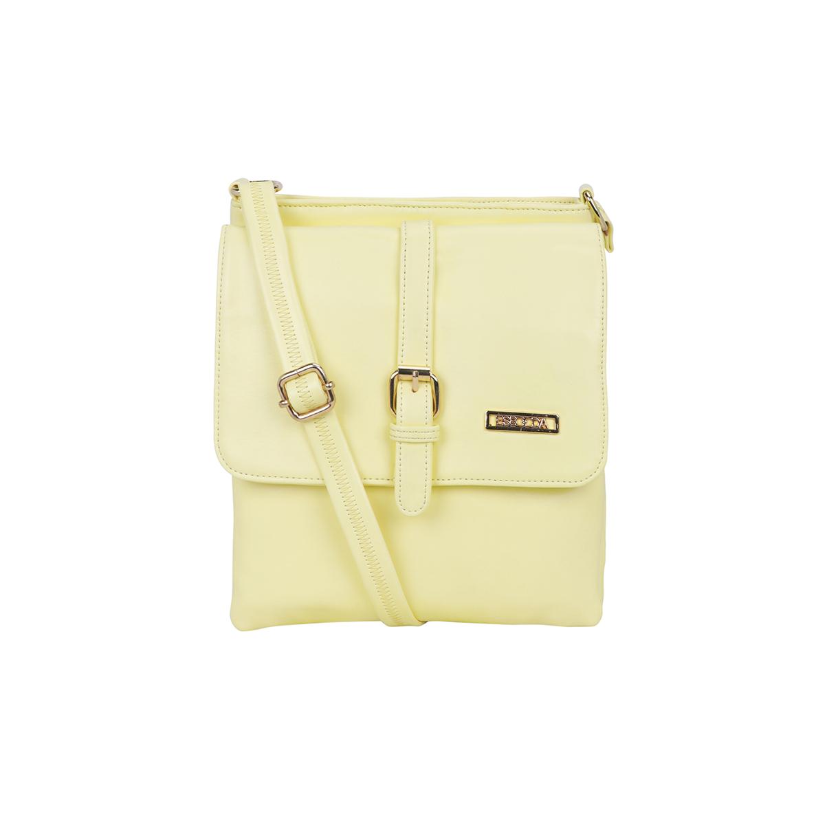 ESBEDA | ESBEDA Light Yellow Color Drymilk Sling bag For Women