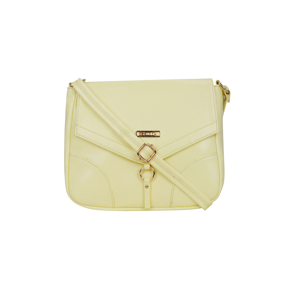 ESBEDA | ESBEDA Light Yellow Color Drymill Comfort Sling bag For Women